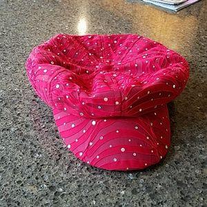 Fun red embellished hat